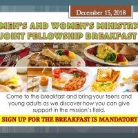 Men's and Women's Fellowship JOINT BREAKFAST